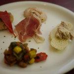 トラットリア ラ・ルーチェ - 前菜盛り合わせ