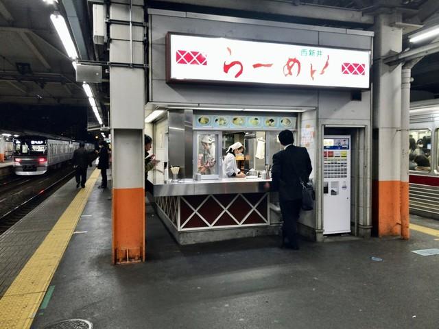 西新井ラーメン - キオスクかよっ! ってか、客はむき出しだよ! 晒しもんだよ!