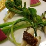 kisetsuryourisono - 春の山菜、湯通し酢味噌