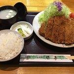とんかつ竹亭 - Wカツ定食(1,600円)