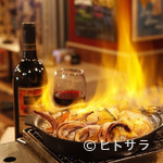 別邸個室・炭焼きビストロ ビスタ - 本日の地鶏・国産牛と季節野菜のア・ラ・プランチャ