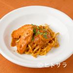 トラットリア ダ ジャコモ - カニの旨味を凝縮。トマトソースの『キタッラ 渡り蟹のトマト煮込みソース』