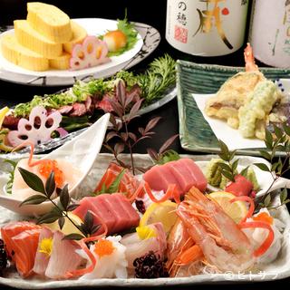 旬の京野菜と共に楽しめる、四季折々の三重の山の幸・海の幸