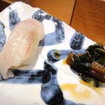 羽幌 鮨処 なか川 - 平目二貫目はお塩で