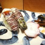 羽幌 鮨処 なか川 - 子持蝦蛄と蛸