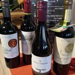 ステーショングリル - ドリンク写真:2018年2月、ワインリスト更新した。今回は手頃な価格と品質で評価の高いチリワインを4点採用しました。                     チリ特産のカルメネール、チリ産では初めて取り扱う、オーガニックワイン、ピノ・ノワールがおすすめです。