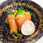 菜の花信州サーモン巻き