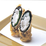 天ぷら新宿つな八 - 白魚海苔巻の天ぷら