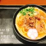 Nihombashisanukiudonhoshino - 肉うどん温並700円
