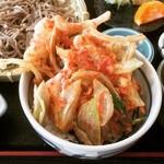 常陸手打蕎麦・うどん うち田 - かき揚げミニ天丼