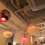 カフェ・テンポ - フロアの天井はこんなカンジ。非日常空間を楽しめました♪