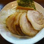 中華そば 秋生 - 魚介つけそば(大盛)・ちゃーしゅー・味つき半熟玉子