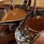 ハングリータイガー - デミソース&醤油ベースのソースはお好みで