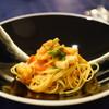 ラペール - 料理写真:Pasta 柚子風味のマグロとほうれん草に蓮根のトマトソースパスタ