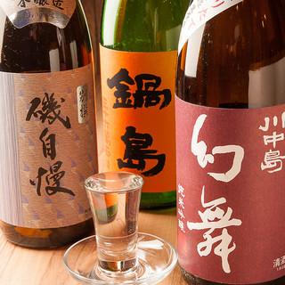 日本酒担当厳選の各地の銘酒をタイプ別等に取り揃えております!