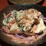 蕎麦 酒肴 京鴨 椿 - 手作りポテトサラダ