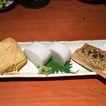 蕎麦 酒肴 京鴨 椿 - 酒肴三品盛