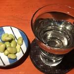 蕎麦 酒肴 京鴨 椿 - 純米生貯蔵酒てふ