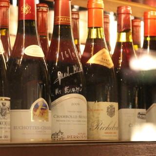 各国のワインを豊富に取り揃え◎フレンチと共にお楽しみください