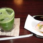 山本亭 - 冷やし抹茶(和菓子付)