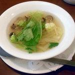 ミモザ - 「お楽しみランチセット」ホタテ風味スープ