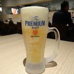支那そばや 知立 - 生ビール(470円)