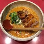 新宿 秀山 - 排骨担々麺