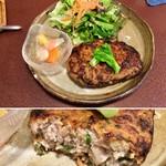 ジャム cafe 可鈴 - 【照焼レンコンバーグ】ごはんにもパンにも合うおいしさです。