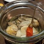 81255973 - 牡蠣のガーリックオイル漬け