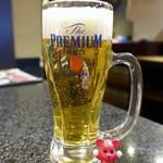 牛庵 - 生ビール ¥490