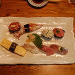 たか嶋 - 地魚を加えた握り寿司