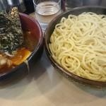 竹屋 - つけ麺(醤油、大)。