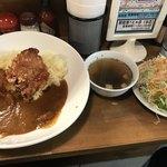 ダブスタ - カレーセット(560円)+唐揚げ1ケ(100円)