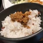 cafe ことだま - ごはん〜(*゚.▽゚*)/肉みそGOOD -☆