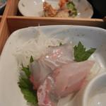 朝美食堂 - ヒラメの刺身