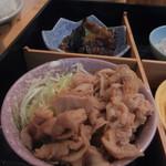 朝美食堂 - 豚の生姜焼き
