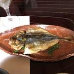 萩の宿 常茂恵 - 萩魚の干物:アジの開き