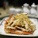 老香港酒家京都 - 渡蟹の生姜風味
