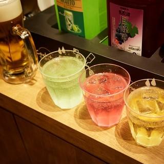 お得な飲み放題プランをご用意致しております。平日限定999円