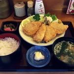 味覚 - 料理写真:アジフライ定食 680円