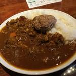 81279288 - 肉山 おおみや 肉山カレー800円+煮込みハンバーグ300円