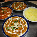 インド・ネパール料理 ロードブッダ - カレー三種にサフランライス
