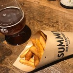 サミット - フリッツとビールの相性は抜群です
