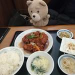 中華料理 豊楽園 - 若鶏の黒胡椒炒めセット