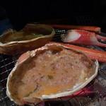 極上炭火海鮮 魚銭 - 甲羅焼き