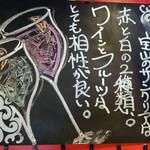 Hirenikunohouzanginzasukiyabashiten - 黒板③