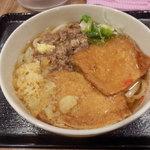 81300652 - 肉・きつねうどん(600円)