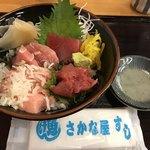 さかな屋すし 魚健 - 料理写真:まぐろ3色丼