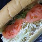 81305784 - 野菜サンド➕トッピングのチキンミート。