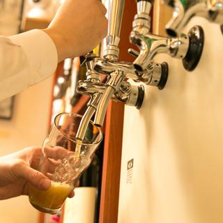 蒲田エールをはじめ国内外のビールが6~8タップ繋がります!!